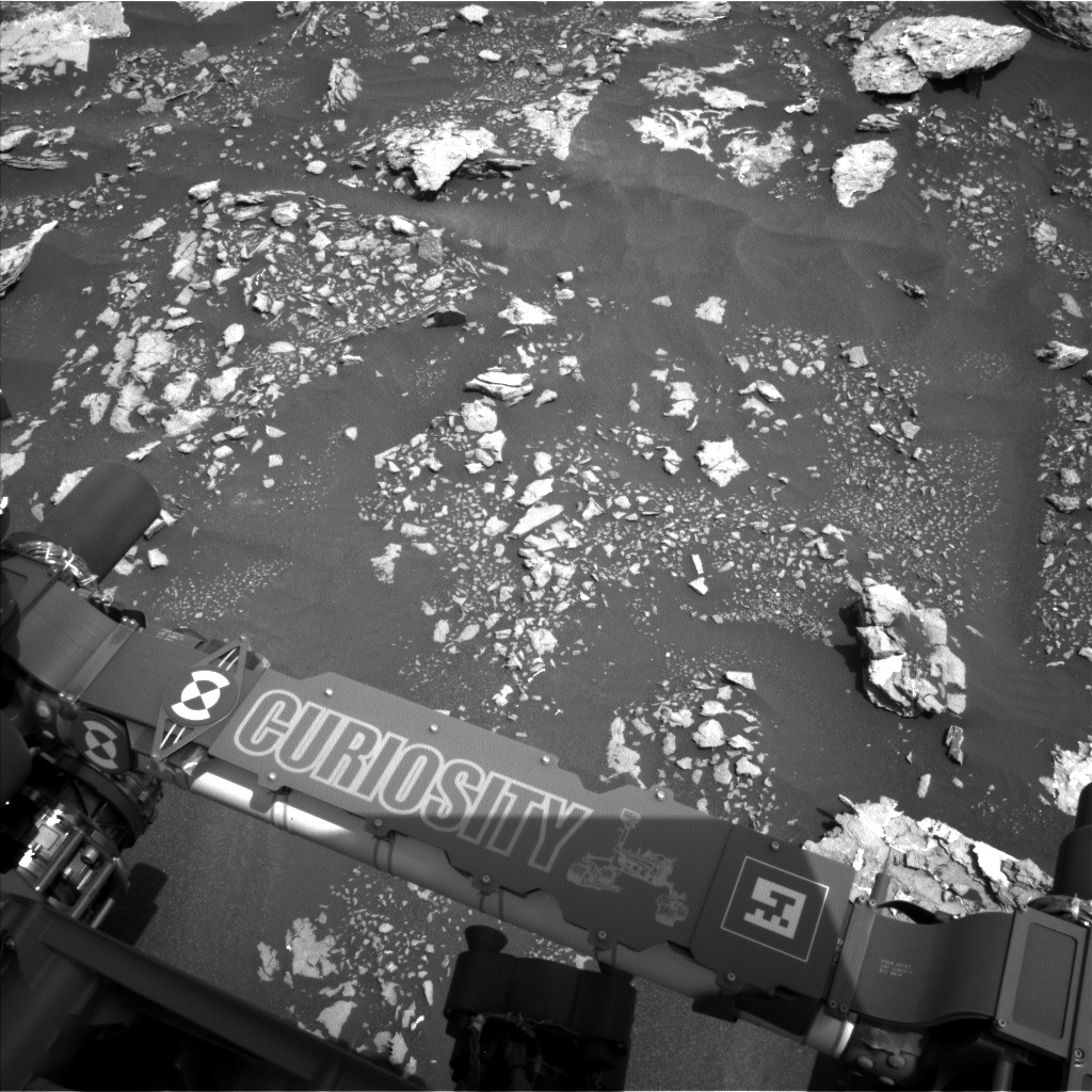 Nasa's Mars rover Curiosity acquired this image using its Left Navigation Camera on Sol 1677, at drive 1776, site number 62