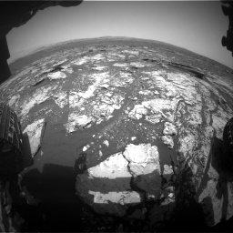 Nasa's Mars rover Curiosity acquired this image using its Front Hazard Avoidance Camera (Front Hazcam) on Sol 1678, at drive 1920, site number 62