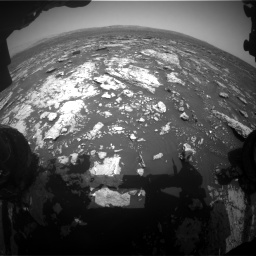 Nasa's Mars rover Curiosity acquired this image using its Front Hazard Avoidance Camera (Front Hazcam) on Sol 1678, at drive 1950, site number 62