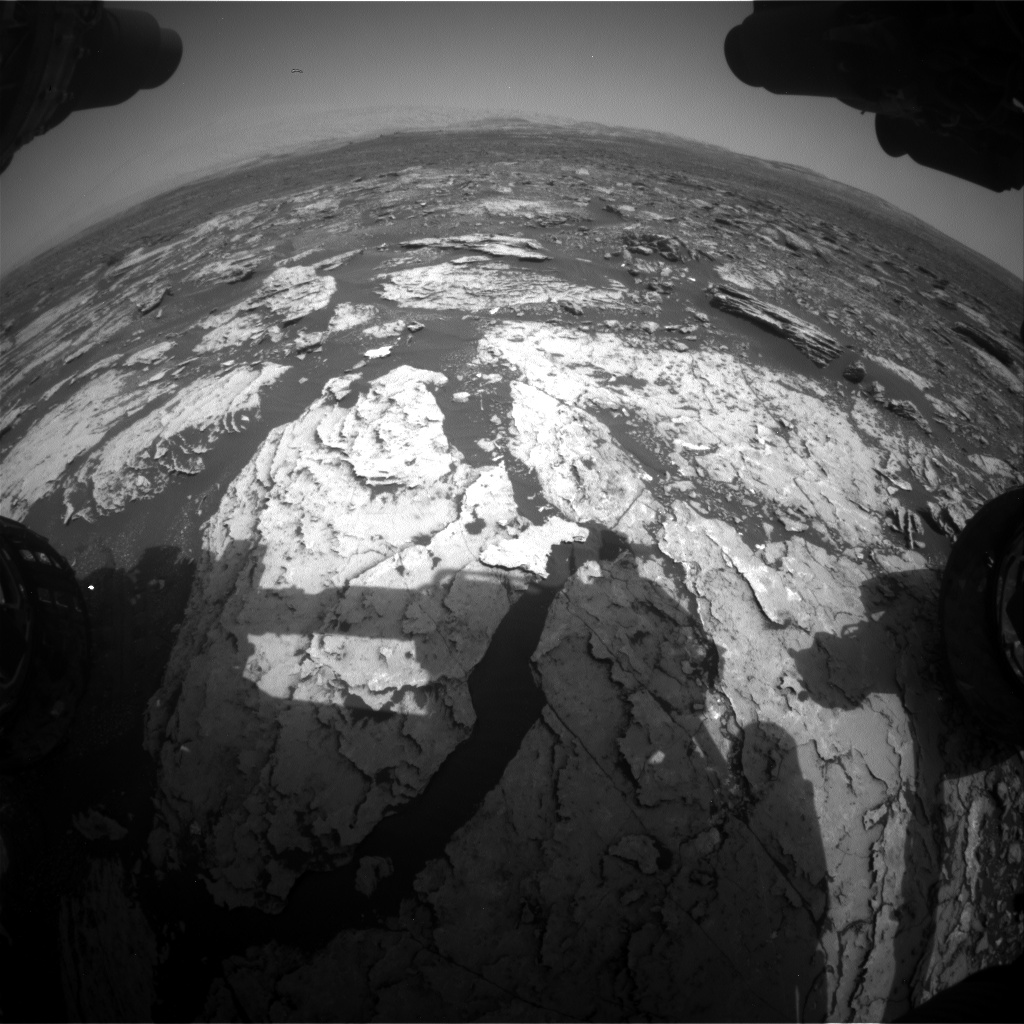 Nasa's Mars rover Curiosity acquired this image using its Front Hazard Avoidance Camera (Front Hazcam) on Sol 1678, at drive 2026, site number 62