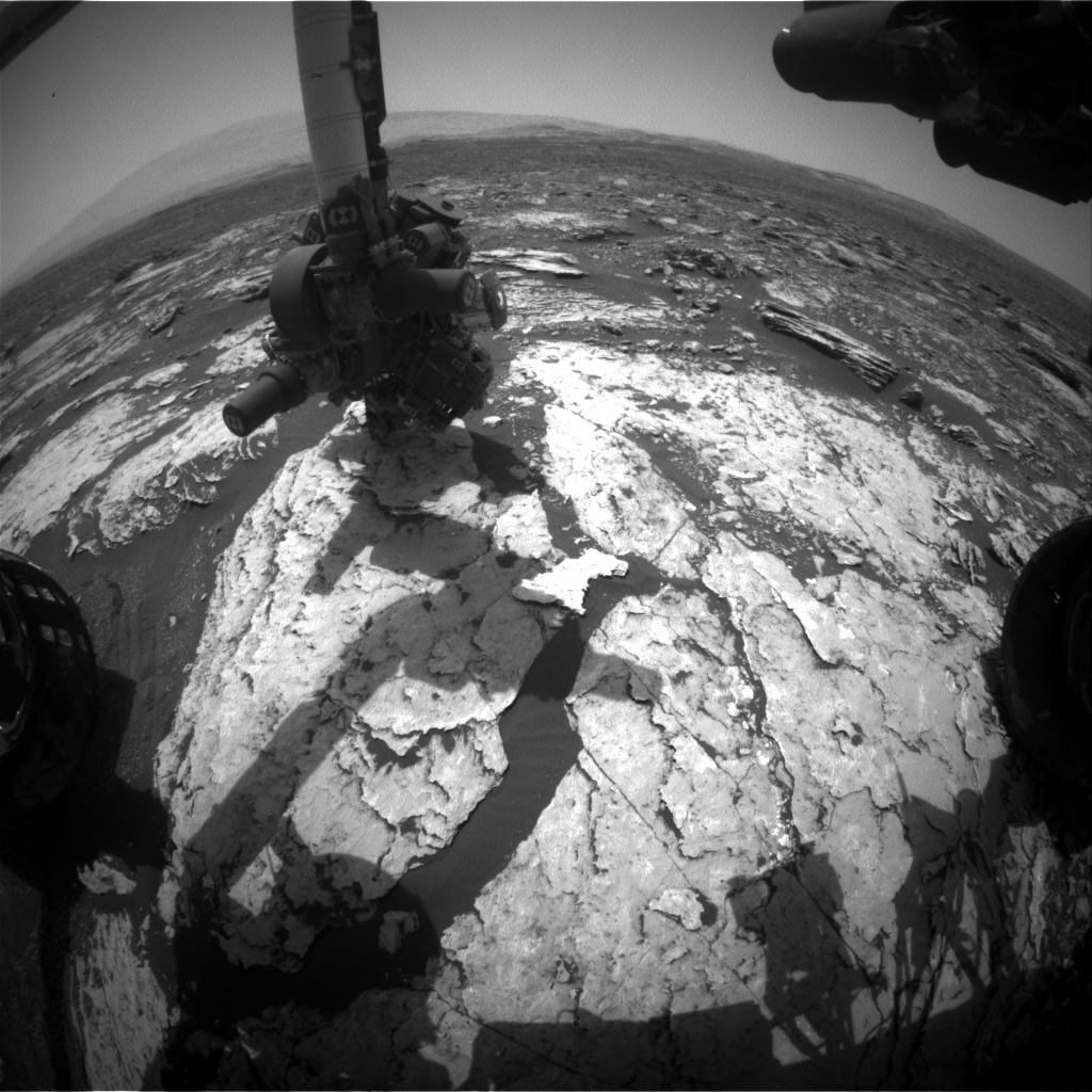 Nasa's Mars rover Curiosity acquired this image using its Front Hazard Avoidance Camera (Front Hazcam) on Sol 1679, at drive 2026, site number 62