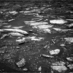 NASA's Mars rover Curiosity acquired this image using its Right Navigation Cameras (Navcams) on Sol 1679