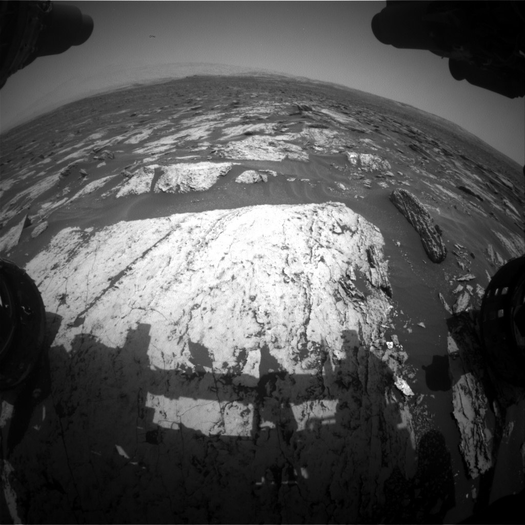 Nasa's Mars rover Curiosity acquired this image using its Front Hazard Avoidance Camera (Front Hazcam) on Sol 1680, at drive 2452, site number 62
