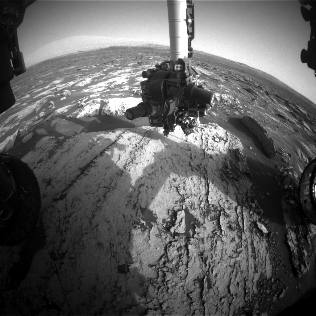 Nasa's Mars rover Curiosity acquired this image using its Front Hazard Avoidance Camera (Front Hazcam) on Sol 1681, at drive 2452, site number 62