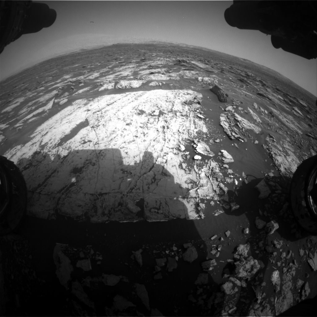 Nasa's Mars rover Curiosity acquired this image using its Front Hazard Avoidance Camera (Front Hazcam) on Sol 1682, at drive 2476, site number 62