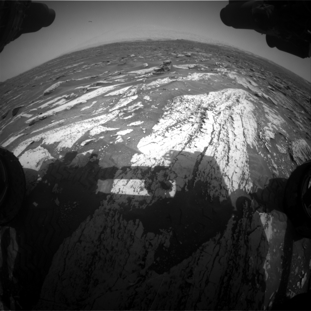 Nasa's Mars rover Curiosity acquired this image using its Front Hazard Avoidance Camera (Front Hazcam) on Sol 1683, at drive 2726, site number 62