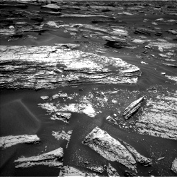 Nasa's Mars rover Curiosity acquired this image using its Left Navigation Camera on Sol 1683, at drive 2536, site number 62