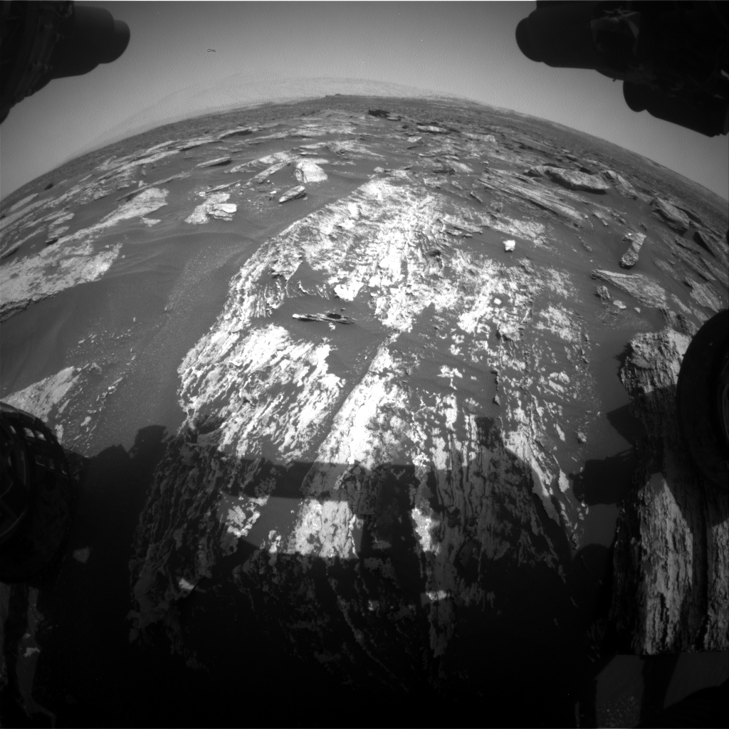Nasa's Mars rover Curiosity acquired this image using its Front Hazard Avoidance Camera (Front Hazcam) on Sol 1684, at drive 3050, site number 62