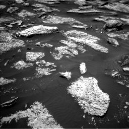 Nasa's Mars rover Curiosity acquired this image using its Left Navigation Camera on Sol 1684, at drive 2846, site number 62