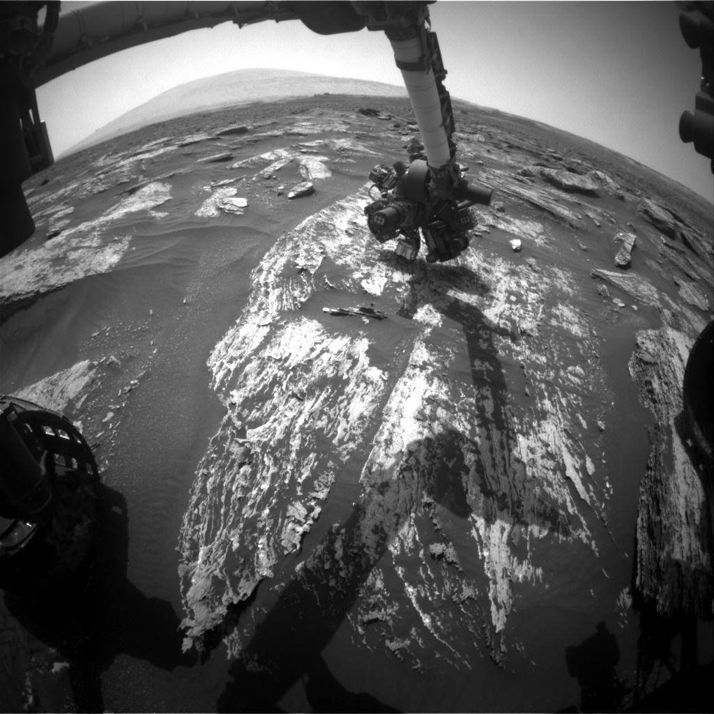 Nasa's Mars rover Curiosity acquired this image using its Front Hazard Avoidance Camera (Front Hazcam) on Sol 1685, at drive 3050, site number 62