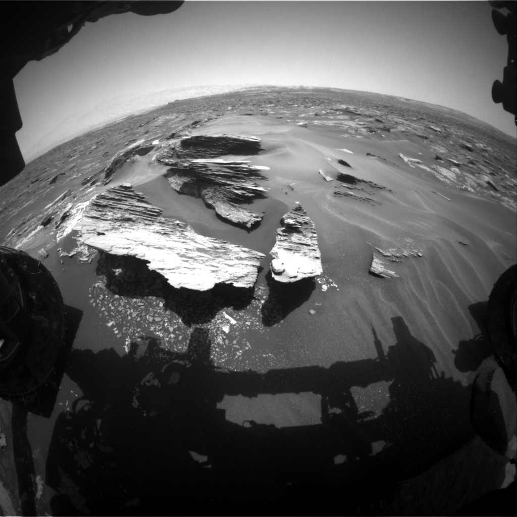 Nasa's Mars rover Curiosity acquired this image using its Front Hazard Avoidance Camera (Front Hazcam) on Sol 1685, at drive 3188, site number 62