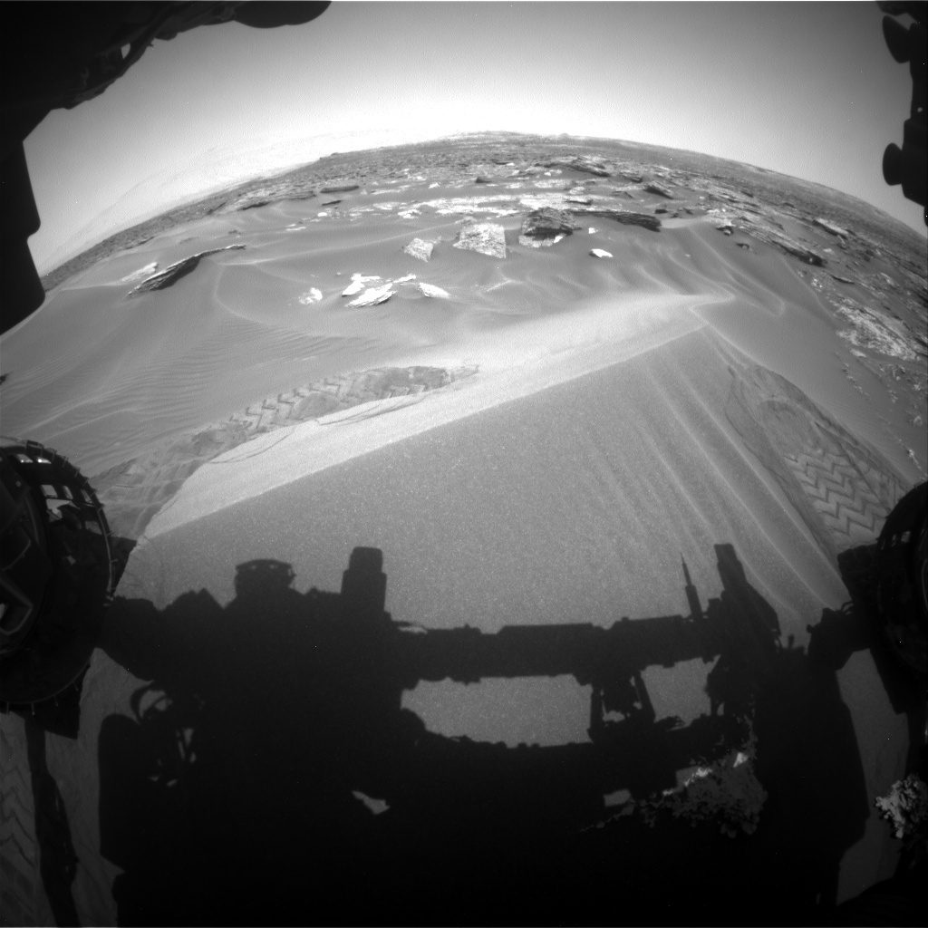 NASA's Mars rover Curiosity acquired this image using its Front Hazard Avoidance Cameras (Front Hazcams) on Sol 1686
