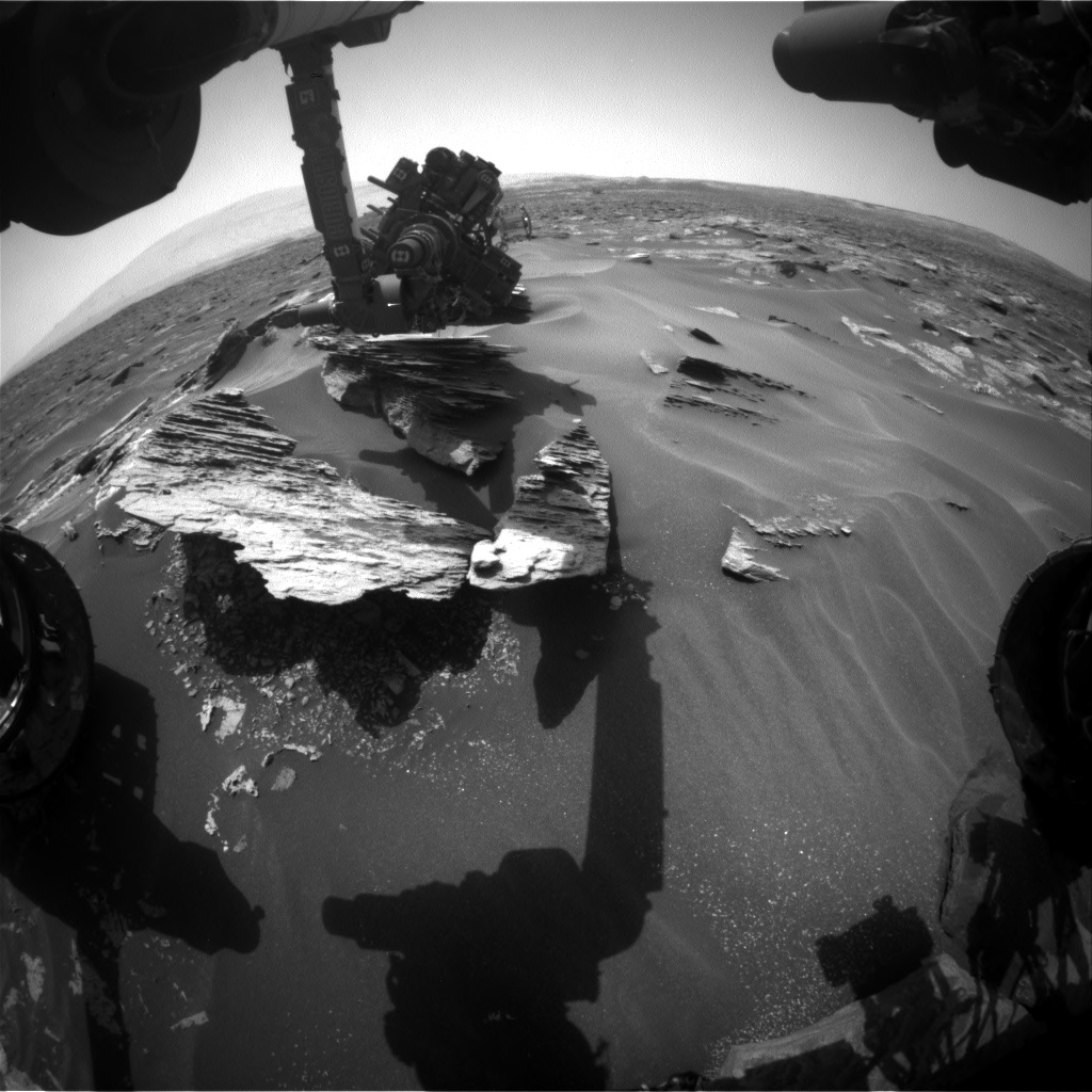 Nasa's Mars rover Curiosity acquired this image using its Front Hazard Avoidance Camera (Front Hazcam) on Sol 1686, at drive 3188, site number 62