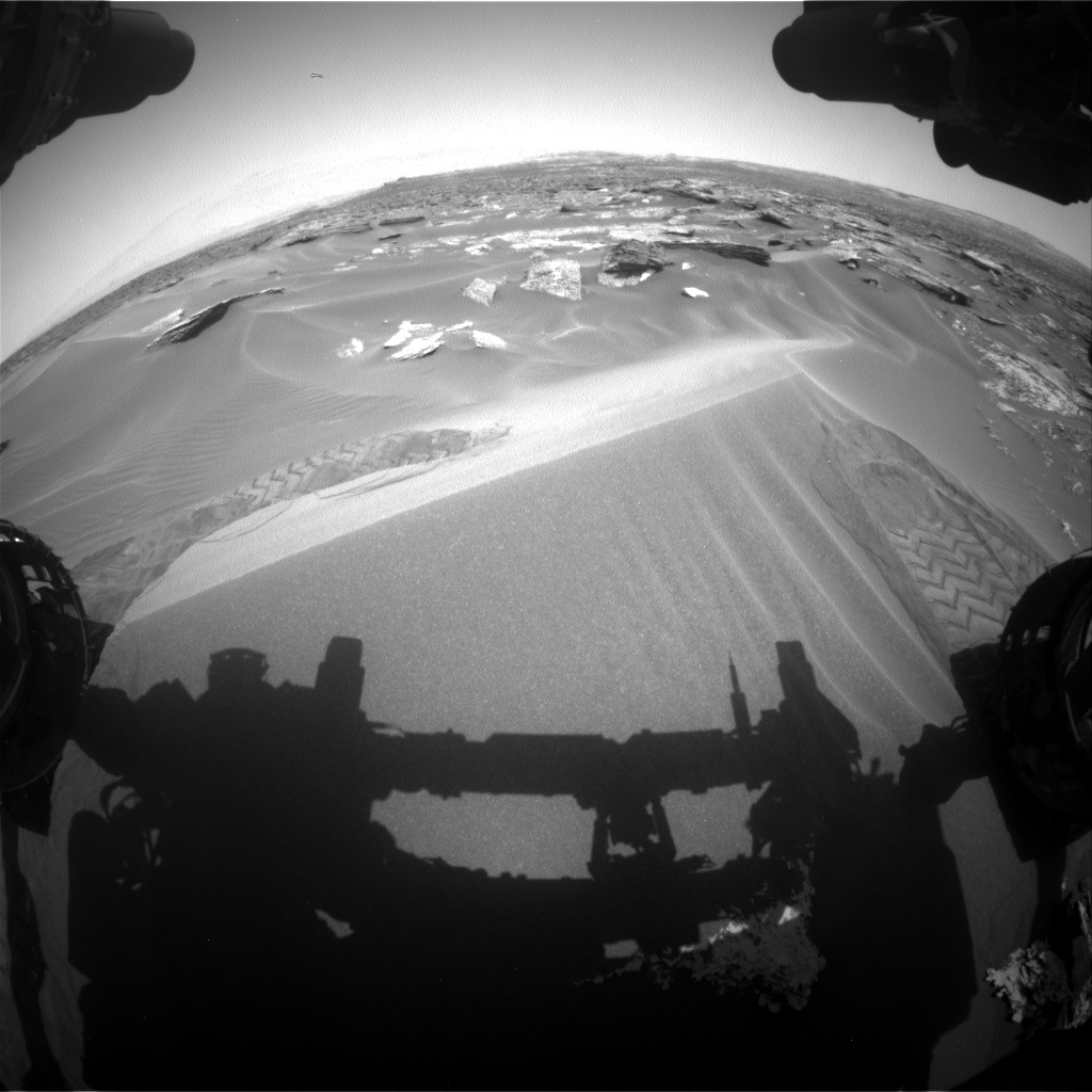 Nasa's Mars rover Curiosity acquired this image using its Front Hazard Avoidance Camera (Front Hazcam) on Sol 1686, at drive 3350, site number 62