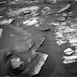 Nasa's Mars rover Curiosity acquired this image using its Left Navigation Camera on Sol 1686, at drive 3194, site number 62