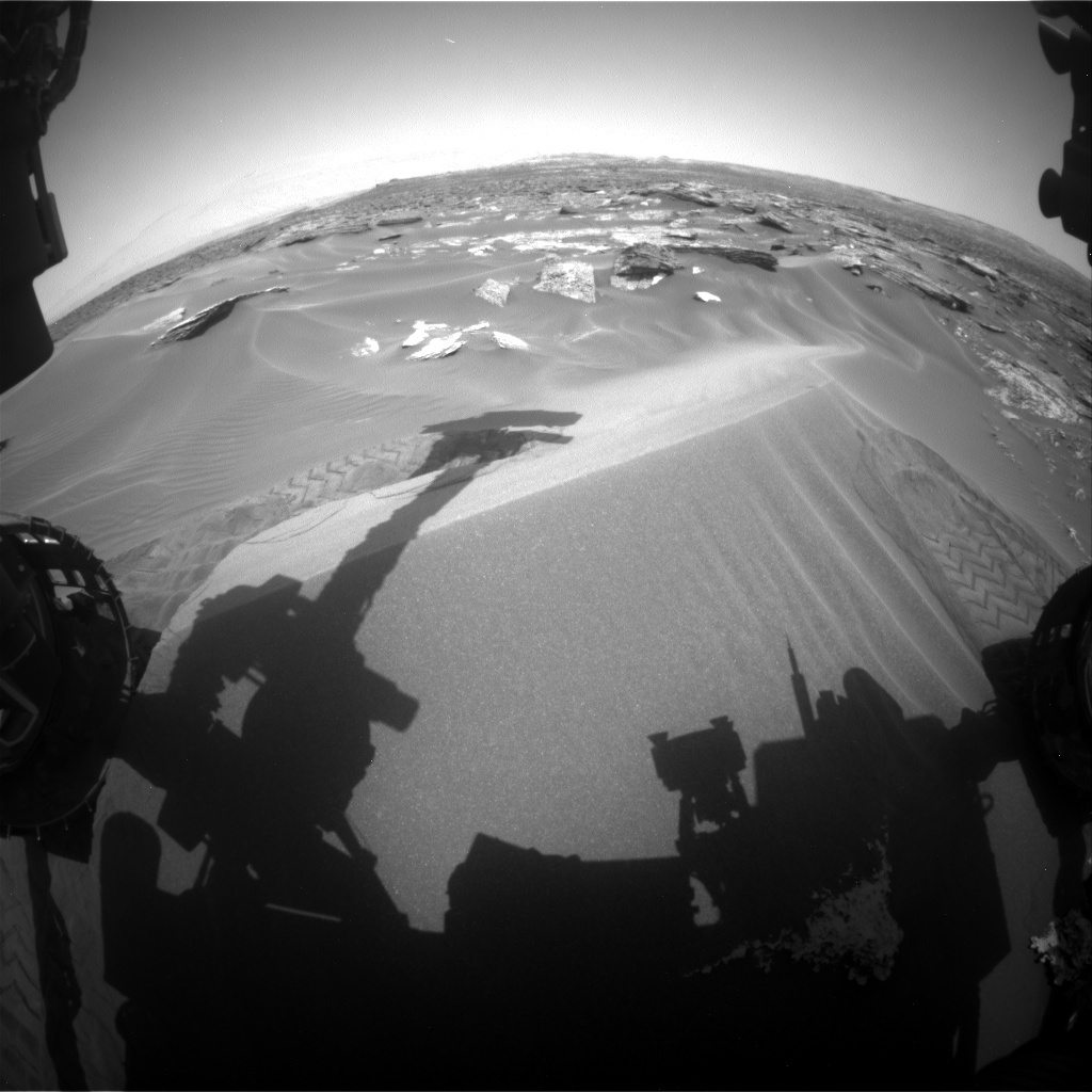 NASA's Mars rover Curiosity acquired this image using its Front Hazard Avoidance Cameras (Front Hazcams) on Sol 1687