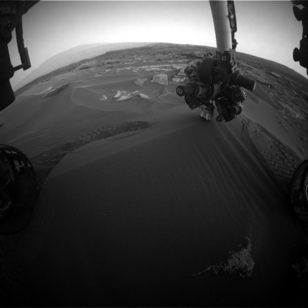 Nasa's Mars rover Curiosity acquired this image using its Front Hazard Avoidance Camera (Front Hazcam) on Sol 1687, at drive 3350, site number 62