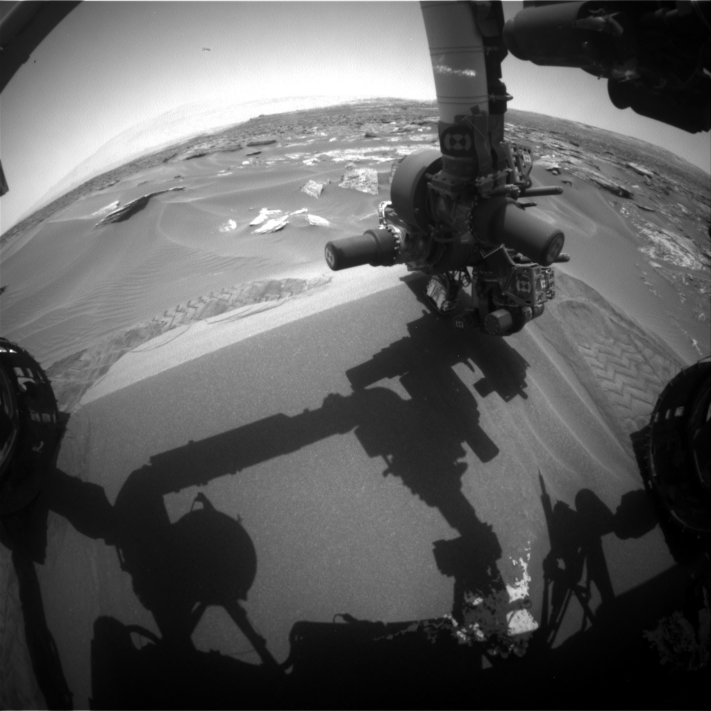 Nasa's Mars rover Curiosity acquired this image using its Front Hazard Avoidance Camera (Front Hazcam) on Sol 1688, at drive 3350, site number 62