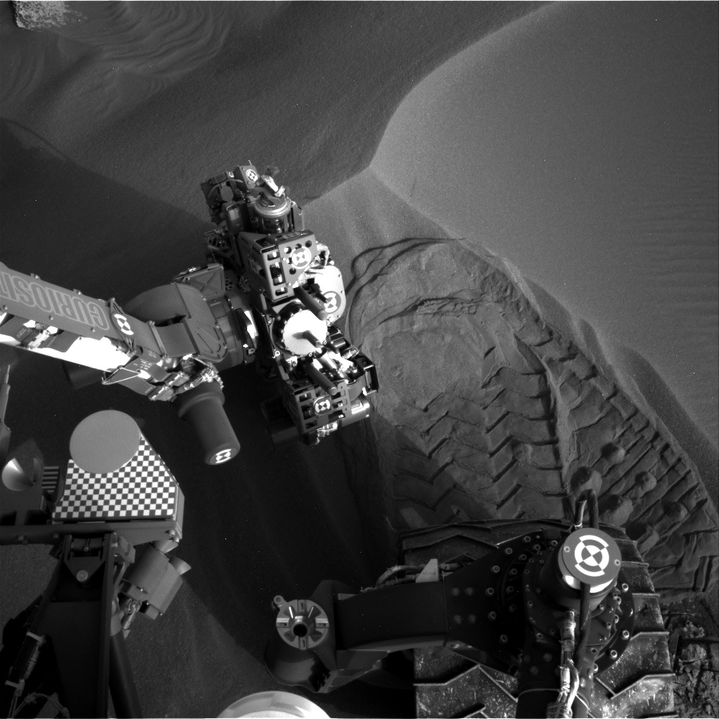 Nasa's Mars rover Curiosity acquired this image using its Right Navigation Camera on Sol 1688, at drive 3350, site number 62