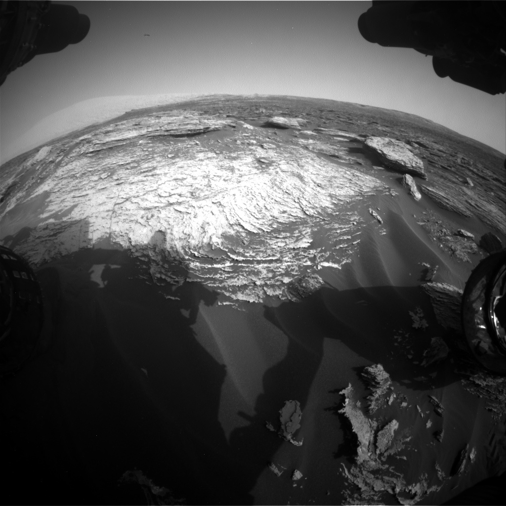 Nasa's Mars rover Curiosity acquired this image using its Front Hazard Avoidance Camera (Front Hazcam) on Sol 1689, at drive 0, site number 63