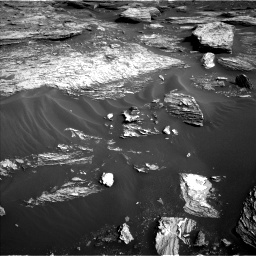 Nasa's Mars rover Curiosity acquired this image using its Left Navigation Camera on Sol 1689, at drive 3440, site number 62