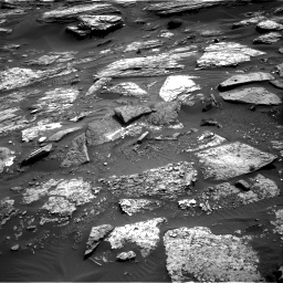 Nasa's Mars rover Curiosity acquired this image using its Right Navigation Camera on Sol 1689, at drive 3356, site number 62