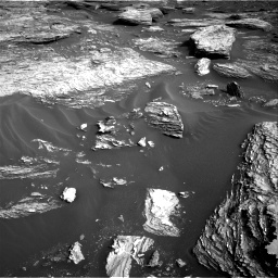 Nasa's Mars rover Curiosity acquired this image using its Right Navigation Camera on Sol 1689, at drive 3440, site number 62