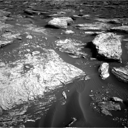 Nasa's Mars rover Curiosity acquired this image using its Right Navigation Camera on Sol 1689, at drive 3458, site number 62