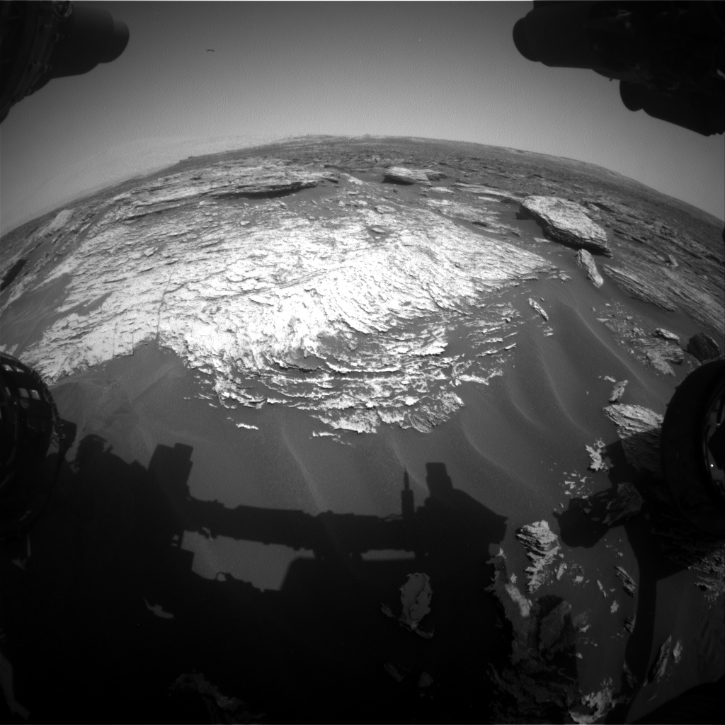 Nasa's Mars rover Curiosity acquired this image using its Front Hazard Avoidance Camera (Front Hazcam) on Sol 1690, at drive 0, site number 63
