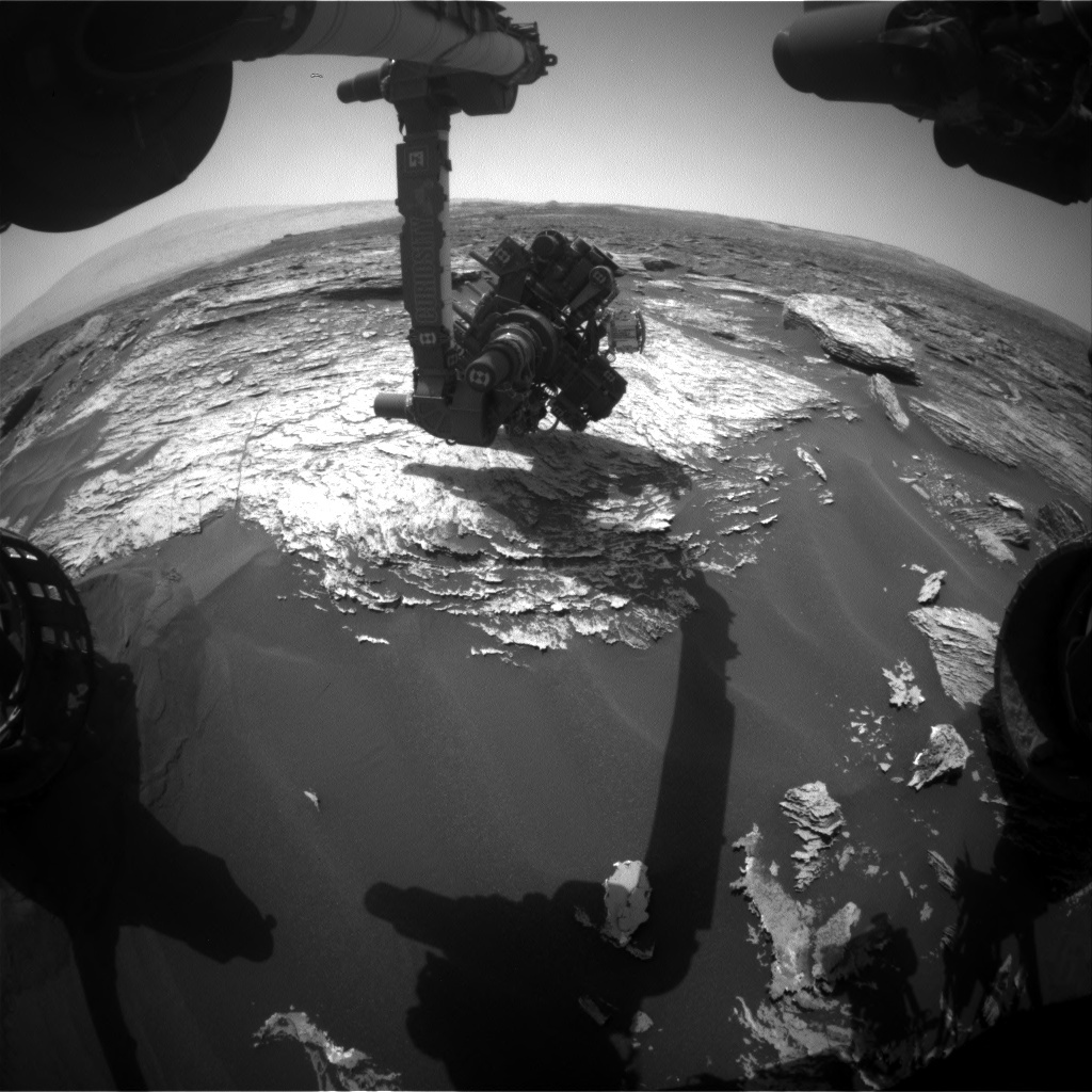NASA's Mars rover Curiosity acquired this image using its Front Hazard Avoidance Cameras (Front Hazcams) on Sol 1691