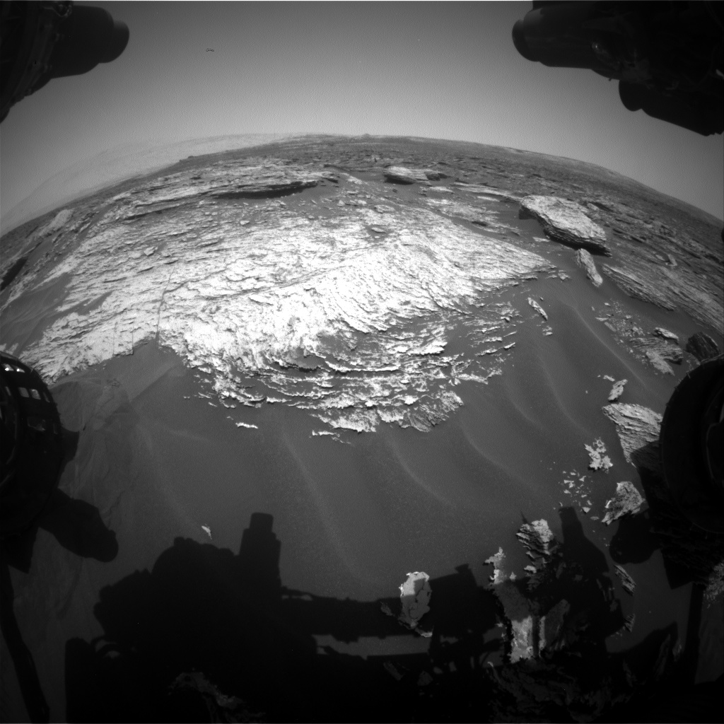 Nasa's Mars rover Curiosity acquired this image using its Front Hazard Avoidance Camera (Front Hazcam) on Sol 1691, at drive 0, site number 63