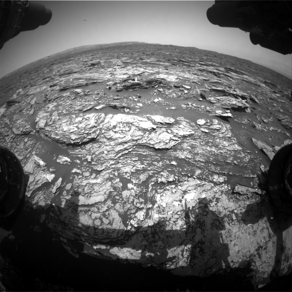 Nasa's Mars rover Curiosity acquired this image using its Front Hazard Avoidance Camera (Front Hazcam) on Sol 1691, at drive 100, site number 63
