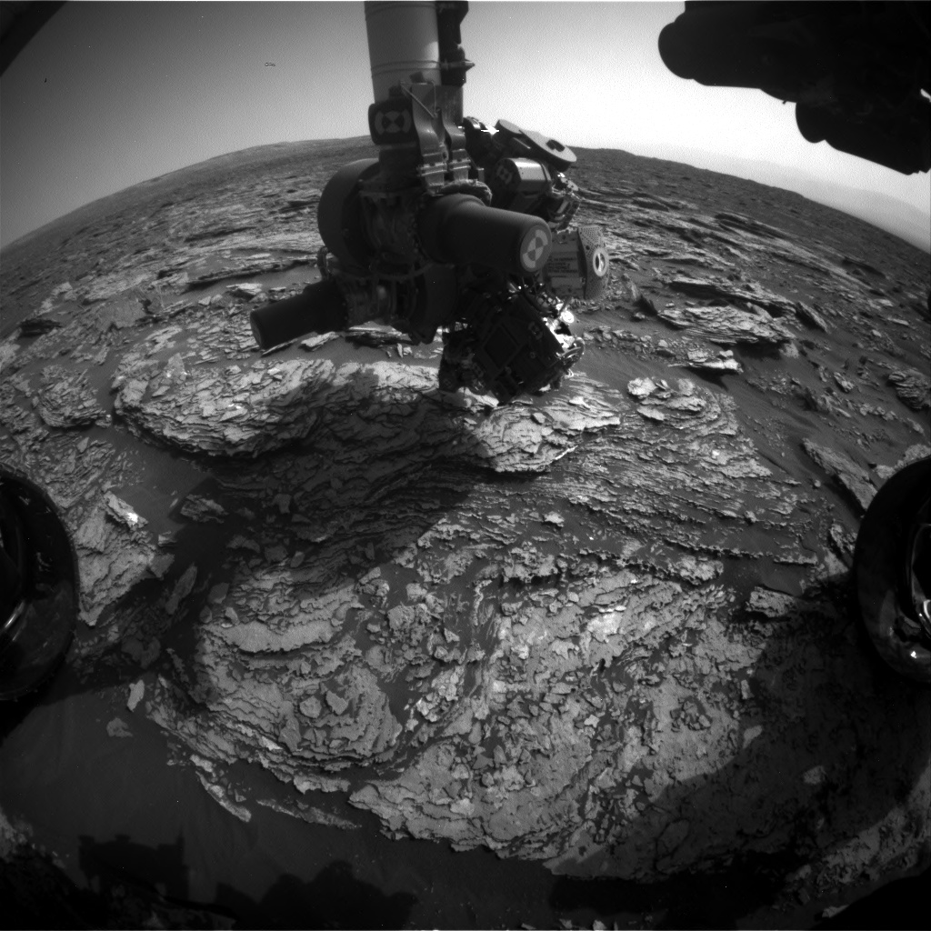 Nasa's Mars rover Curiosity acquired this image using its Front Hazard Avoidance Camera (Front Hazcam) on Sol 1692, at drive 100, site number 63