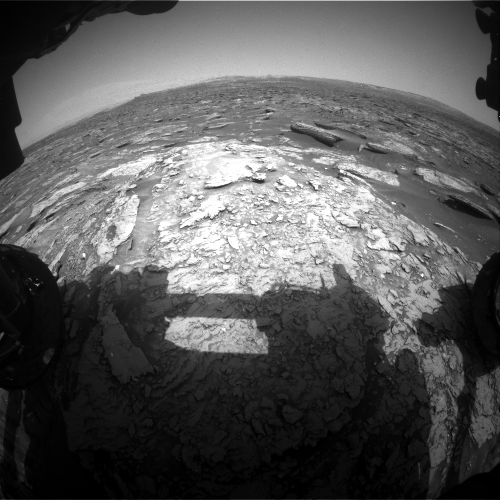 Nasa's Mars rover Curiosity acquired this image using its Front Hazard Avoidance Camera (Front Hazcam) on Sol 1693, at drive 346, site number 63