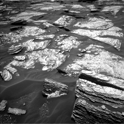 Nasa's Mars rover Curiosity acquired this image using its Left Navigation Camera on Sol 1693, at drive 124, site number 63