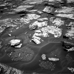 Nasa's Mars rover Curiosity acquired this image using its Right Navigation Camera on Sol 1693, at drive 106, site number 63