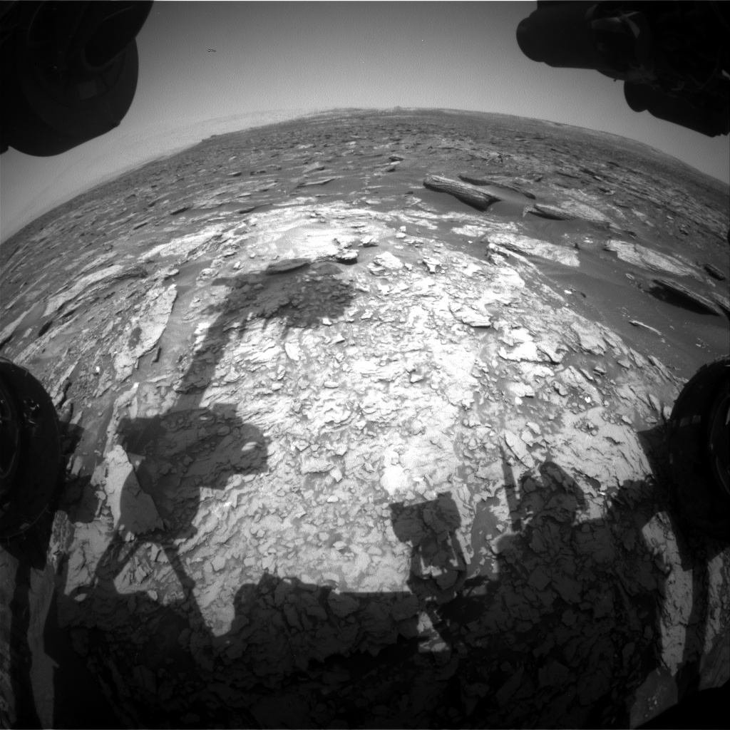 Nasa's Mars rover Curiosity acquired this image using its Front Hazard Avoidance Camera (Front Hazcam) on Sol 1694, at drive 346, site number 63