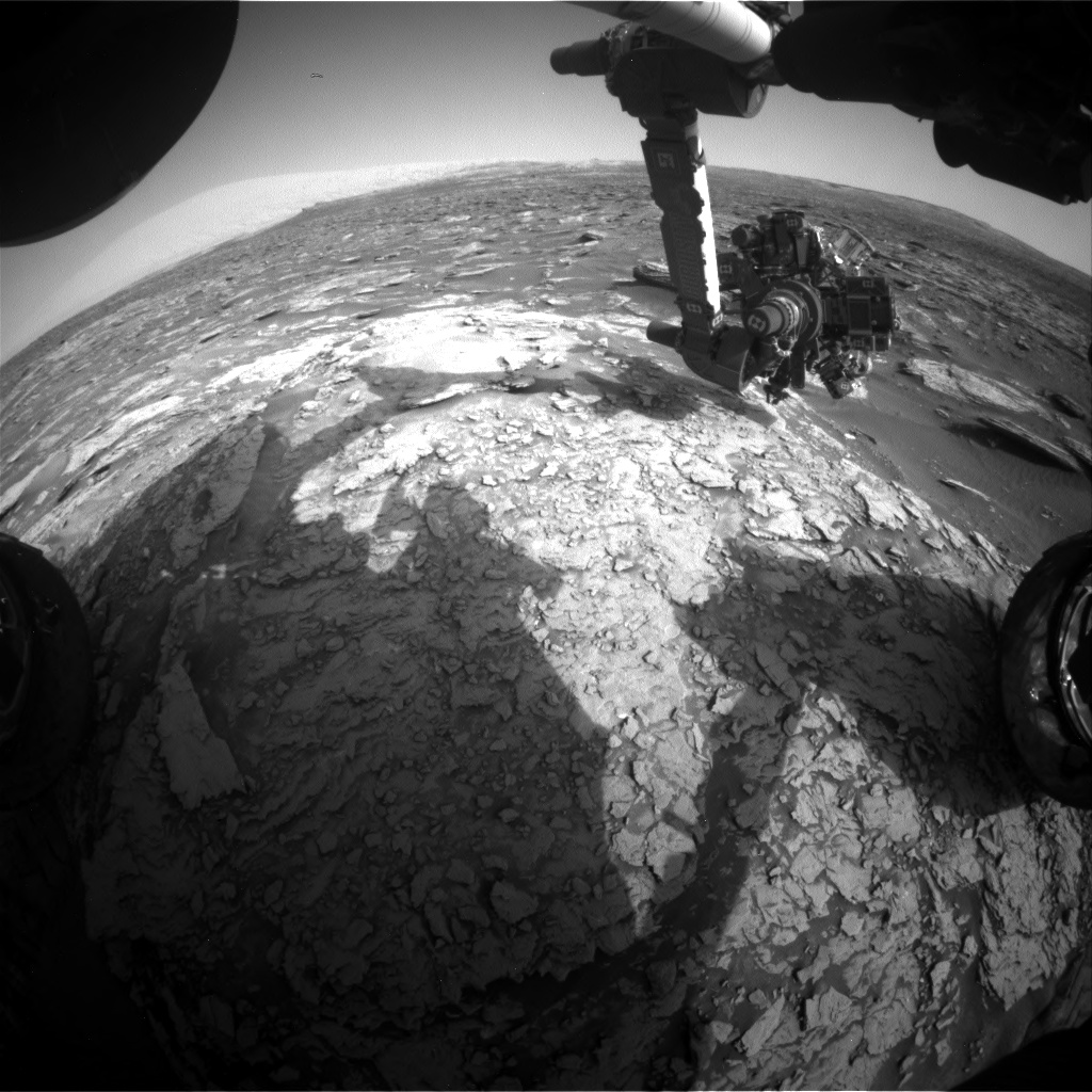 Nasa's Mars rover Curiosity acquired this image using its Front Hazard Avoidance Camera (Front Hazcam) on Sol 1695, at drive 346, site number 63