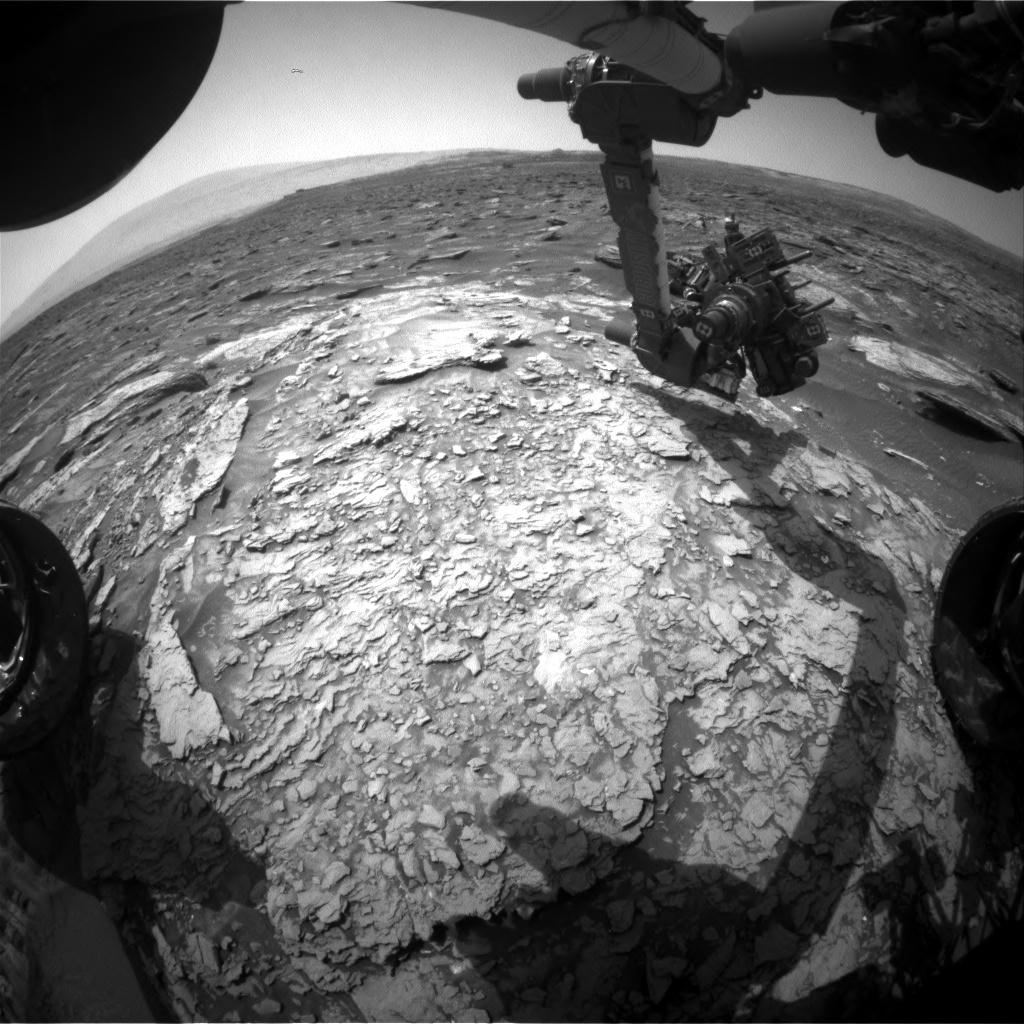 Nasa's Mars rover Curiosity acquired this image using its Front Hazard Avoidance Camera (Front Hazcam) on Sol 1696, at drive 346, site number 63