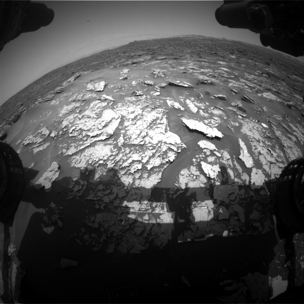 Nasa's Mars rover Curiosity acquired this image using its Front Hazard Avoidance Camera (Front Hazcam) on Sol 1696, at drive 766, site number 63