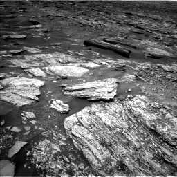 Nasa's Mars rover Curiosity acquired this image using its Left Navigation Camera on Sol 1696, at drive 412, site number 63