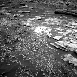 Nasa's Mars rover Curiosity acquired this image using its Left Navigation Camera on Sol 1696, at drive 436, site number 63