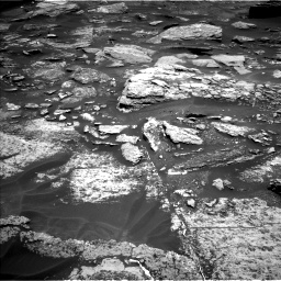 Nasa's Mars rover Curiosity acquired this image using its Left Navigation Camera on Sol 1696, at drive 538, site number 63