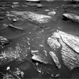 Nasa's Mars rover Curiosity acquired this image using its Left Navigation Camera on Sol 1696, at drive 598, site number 63