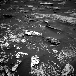 Nasa's Mars rover Curiosity acquired this image using its Left Navigation Camera on Sol 1696, at drive 610, site number 63