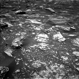 Nasa's Mars rover Curiosity acquired this image using its Left Navigation Camera on Sol 1696, at drive 676, site number 63
