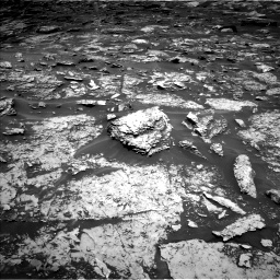 Nasa's Mars rover Curiosity acquired this image using its Left Navigation Camera on Sol 1696, at drive 718, site number 63