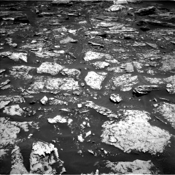 Nasa's Mars rover Curiosity acquired this image using its Left Navigation Camera on Sol 1696, at drive 760, site number 63