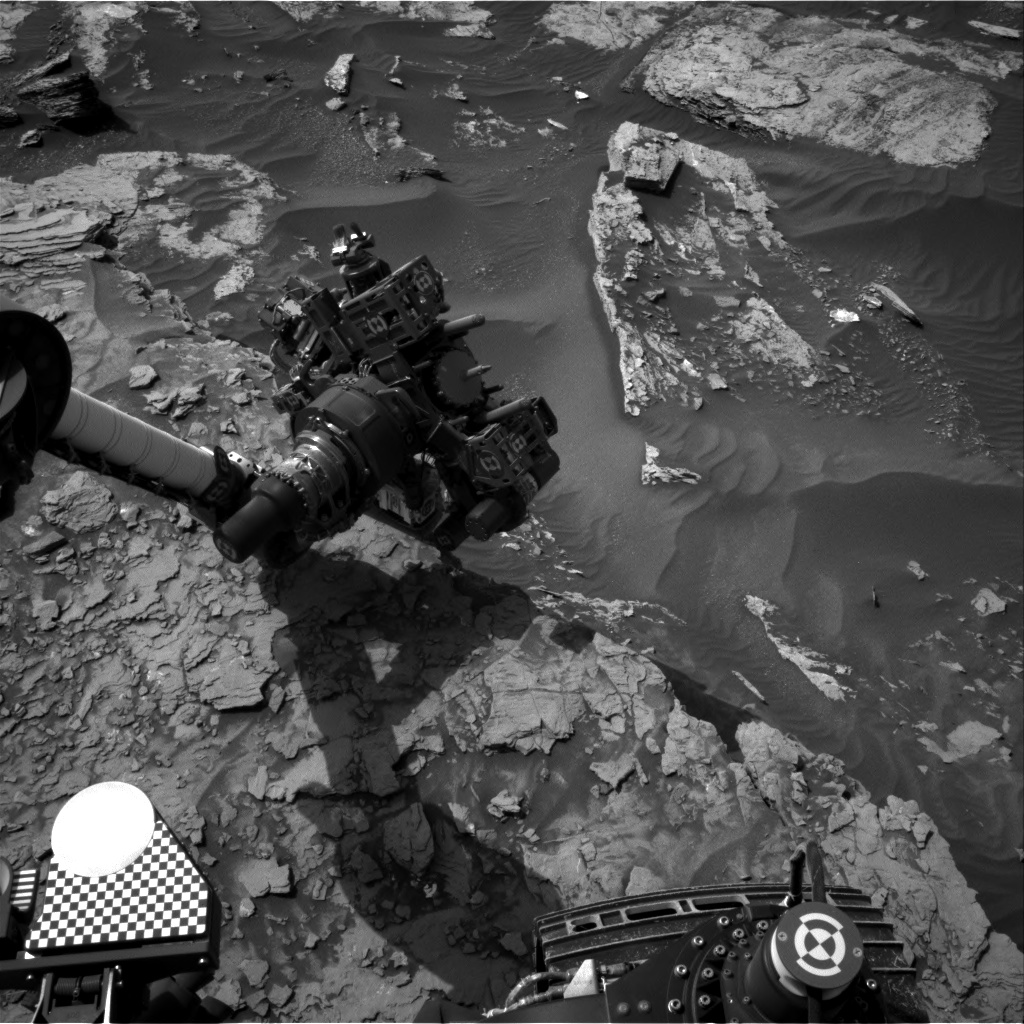 Nasa's Mars rover Curiosity acquired this image using its Right Navigation Camera on Sol 1696, at drive 346, site number 63
