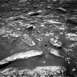 Nasa's Mars rover Curiosity acquired this image using its Right Navigation Camera on Sol 1696, at drive 688, site number 63